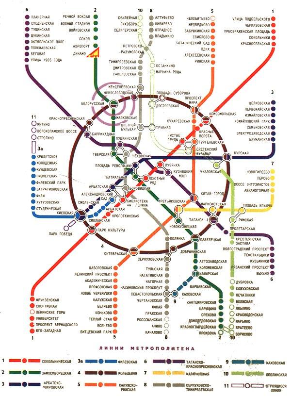С ярославского вокзала до белорусского на метро схема